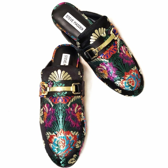 13616447548a4 ... Jacquard Embroidered Brightly Mules. M_5bf33726d6dc52ee45d3b28b